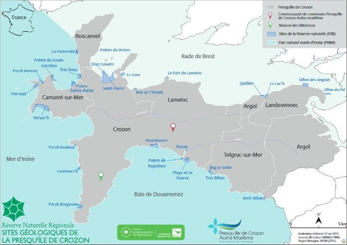 La Réserve naturelle régionale des sites géologiques de la presqu'île de Crozon